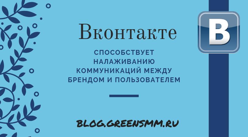 коммуникация в Контакте